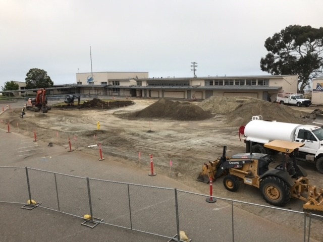 parking lot construction at Judkins