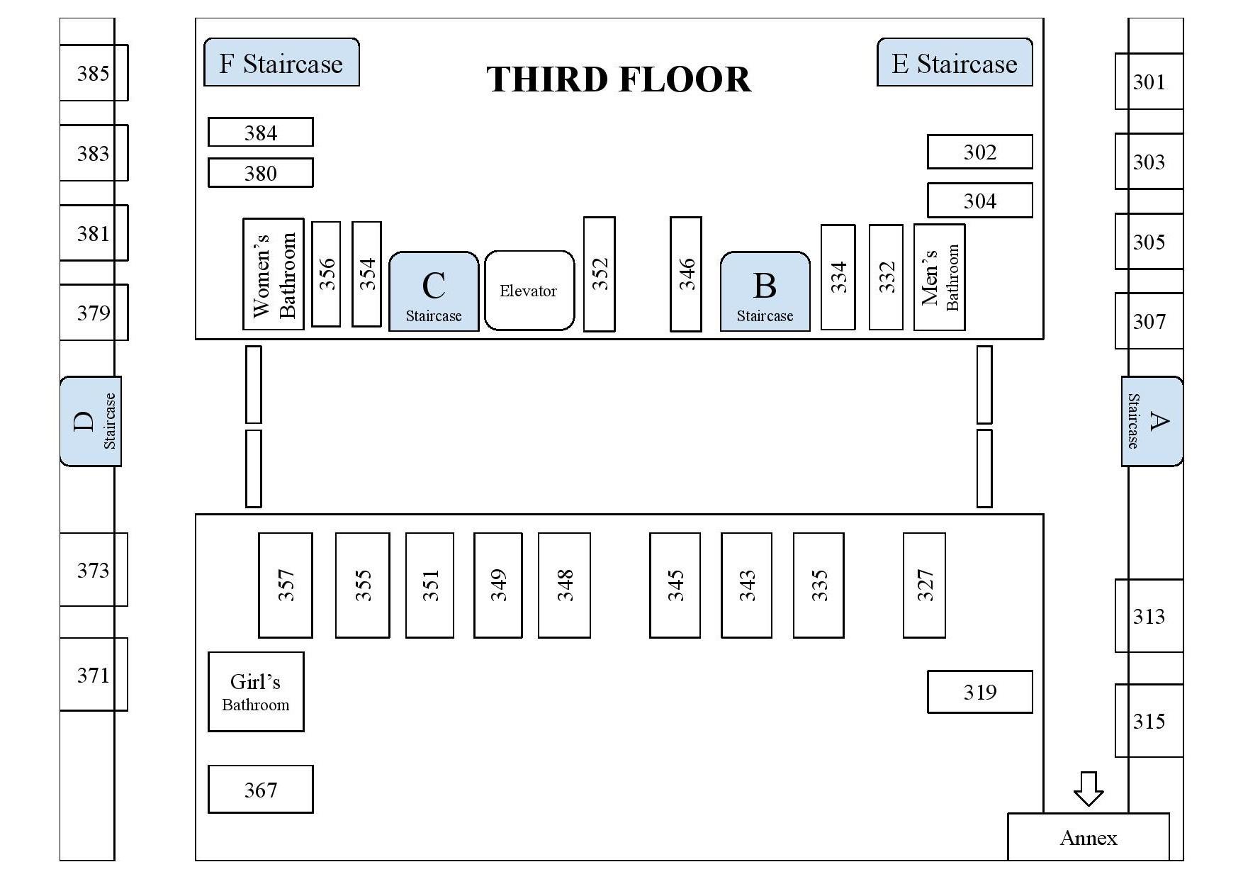 Campus Map- Third Floor