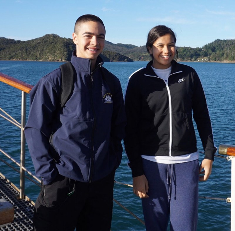 POLAHS Students:  Aaron Ferrales and Alejandra Gurrola embarked on a ten-day journey aboard the Tenacious Tall Ship.