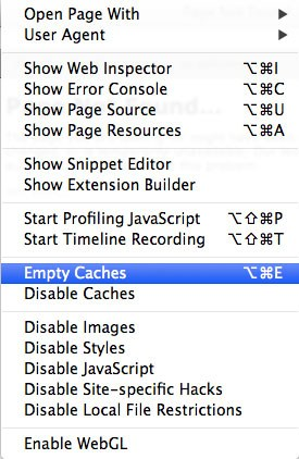 Select Empty Caches