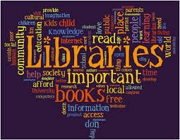Word art around LIBRARY