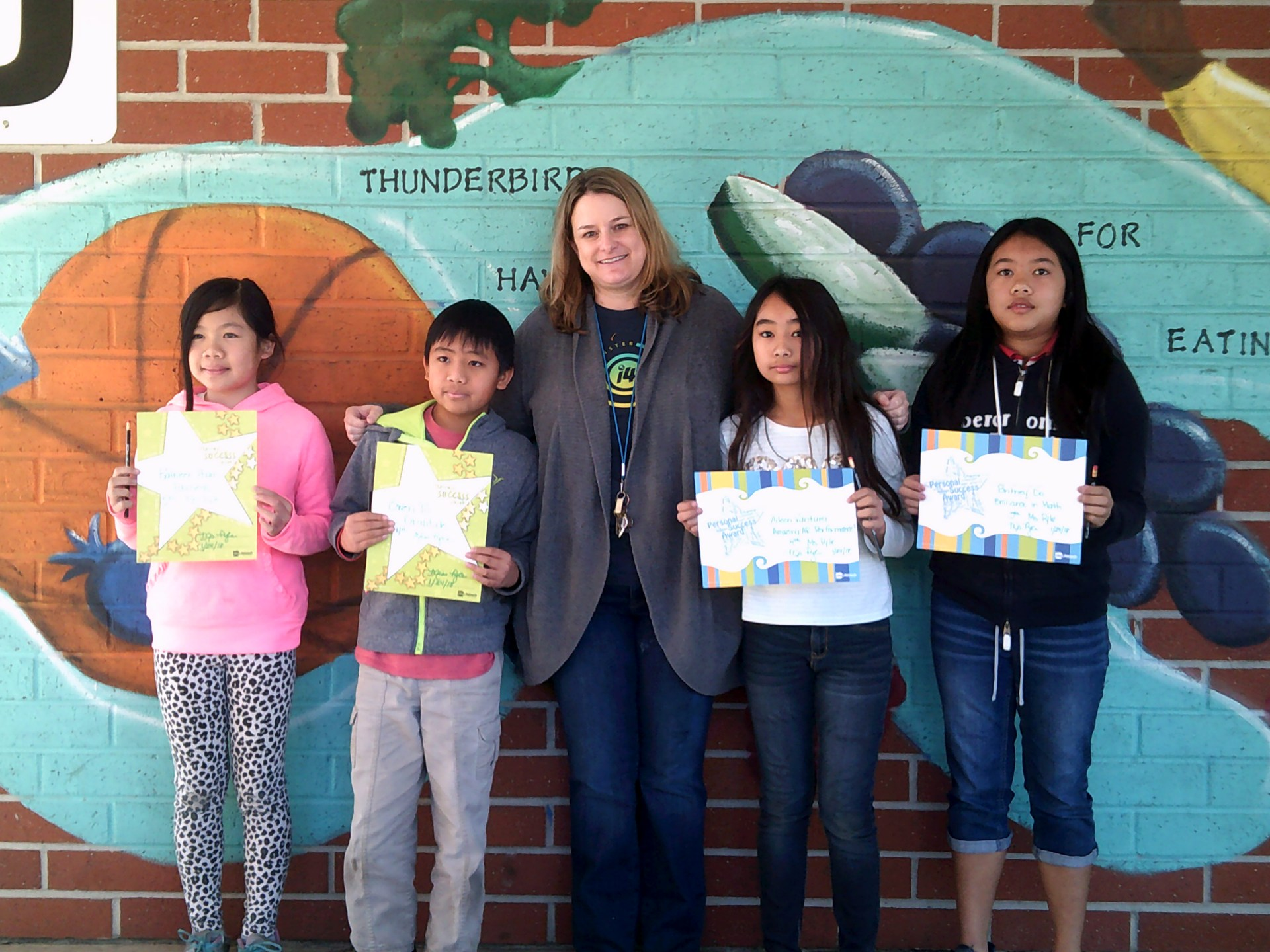 Ms. Pyle's Fourth and Fifth Grade Honorees