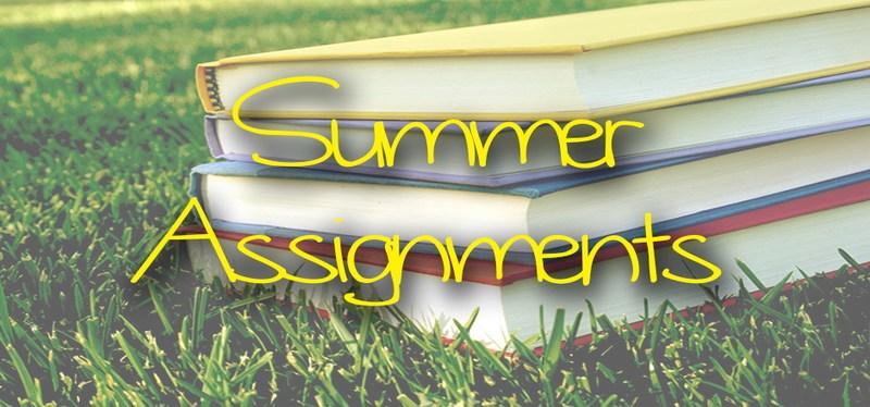 Summer Homework Assignments Thumbnail Image
