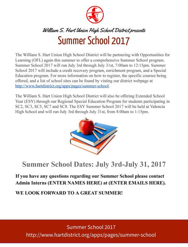 2017 Summer School Information Here Featured Photo