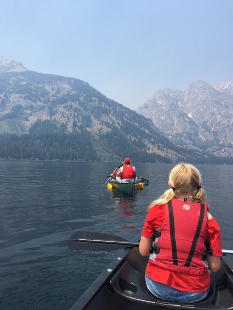 Canoeing by the Tetons