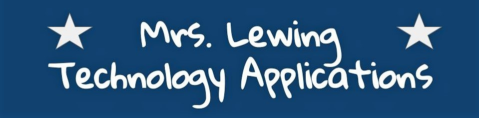 Mrs. Lewing - Technology Applications Image