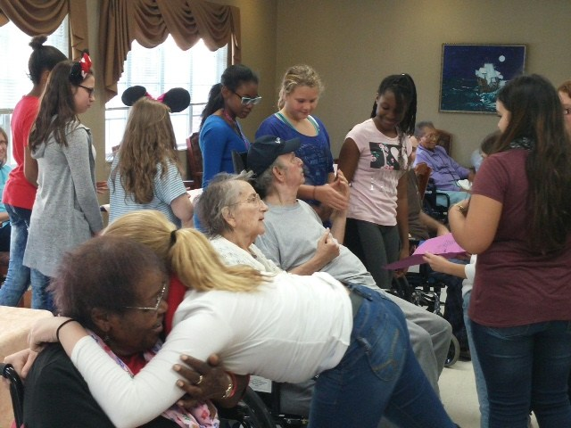 nursing home visit by choir