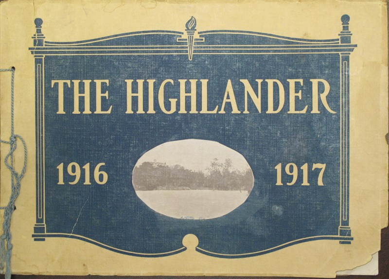 1917, the first volume of The Highlander yearbook