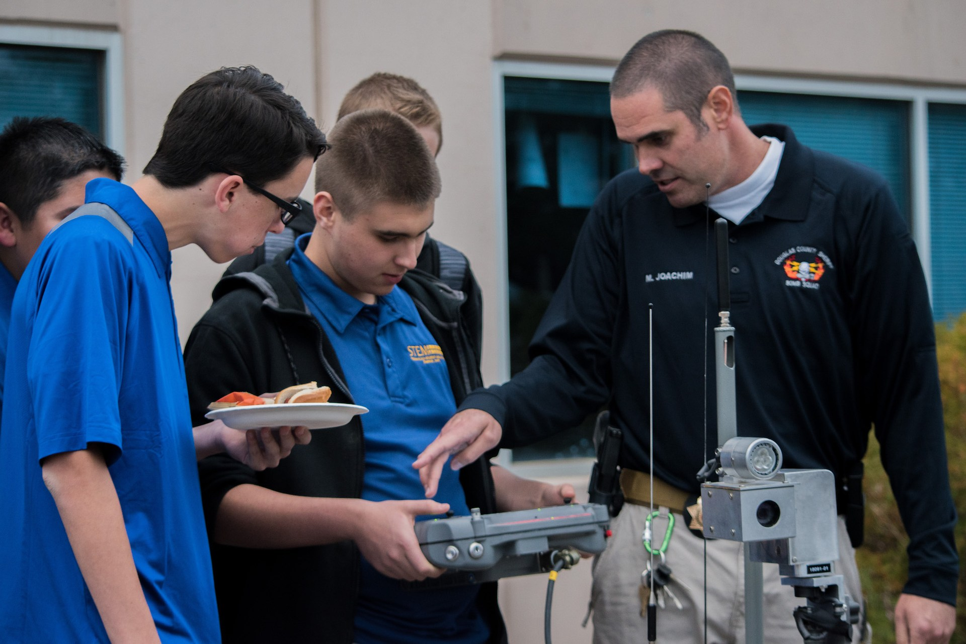 high school exploring robots