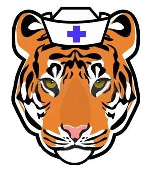 Tiger Logo with a nurse logo
