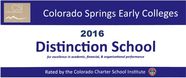 School of Distinction Award 2016