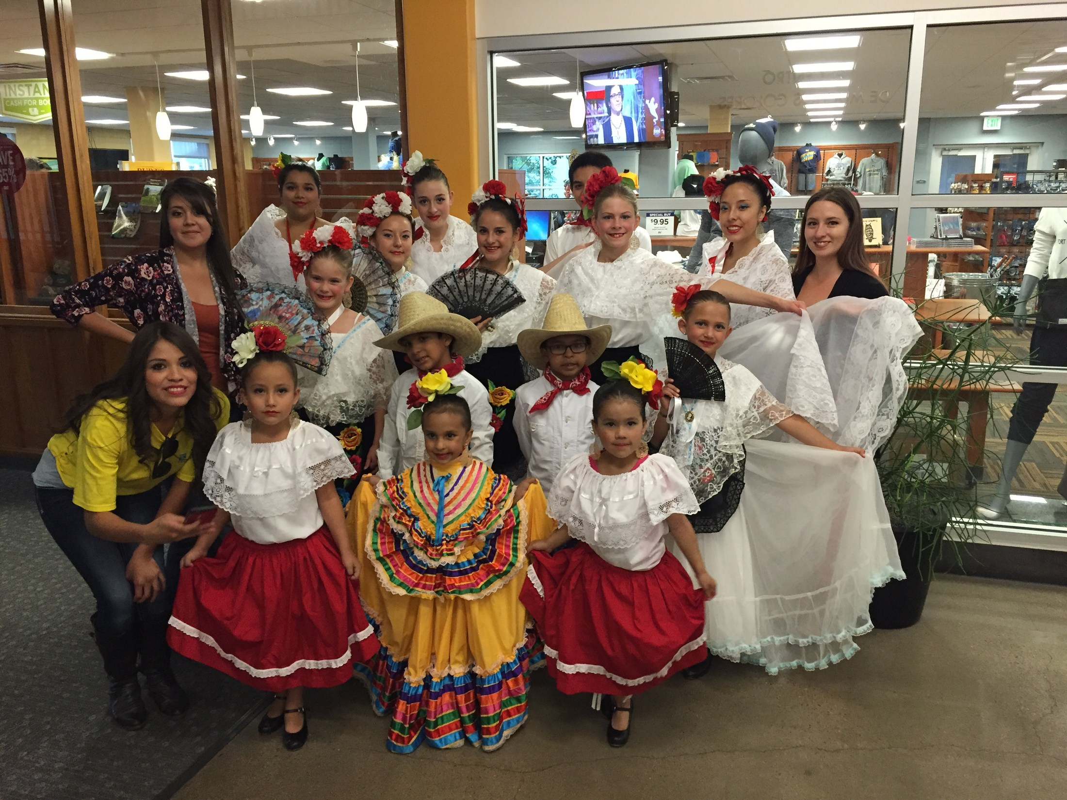 Student dancers from Ballet Folklorico.