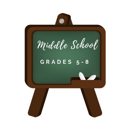 middle school logo decorative