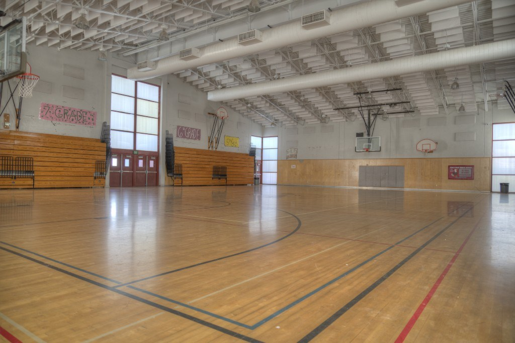 Picture Inside The Charles G. Myers Gymnasium
