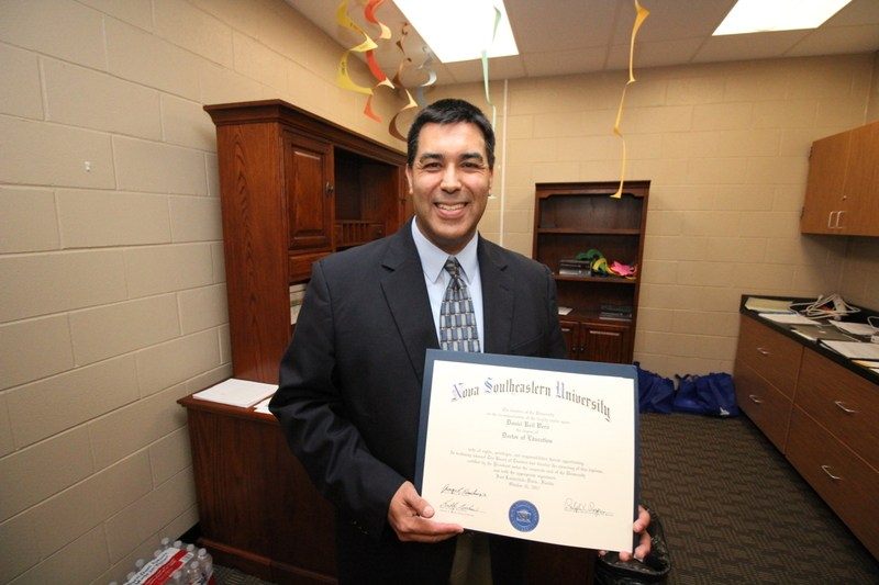 Congrats to Dr. Dan Vera on obtaining his Doctorate in Educational Leadership Thumbnail Image
