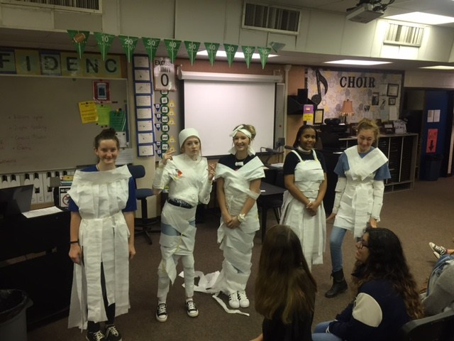 All our toilet paper dress models