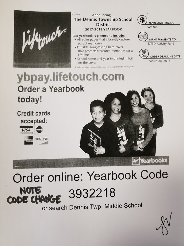 Yearbook Order Information Thumbnail Image