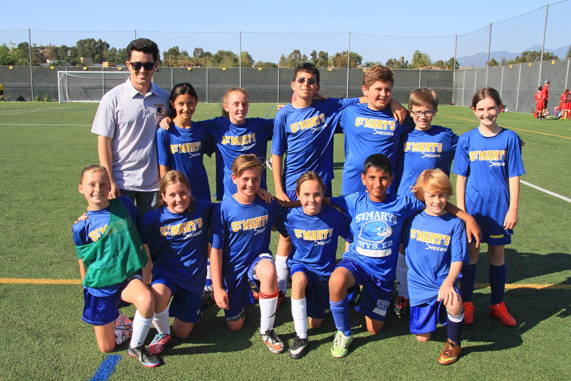 Canyon B coed soccer team