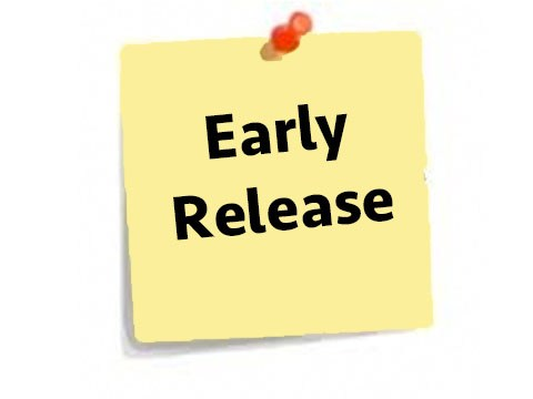 early release Friday Decmeber 1st @ 2:15 p.m.