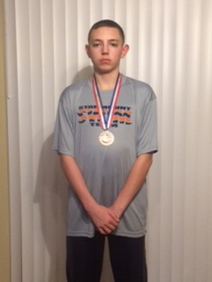 Josh Spillman at SHS wins Medal at Swim meet. Thumbnail Image