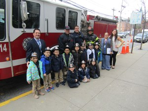 Union City Fire Department visits Jefferson's Pre-K class