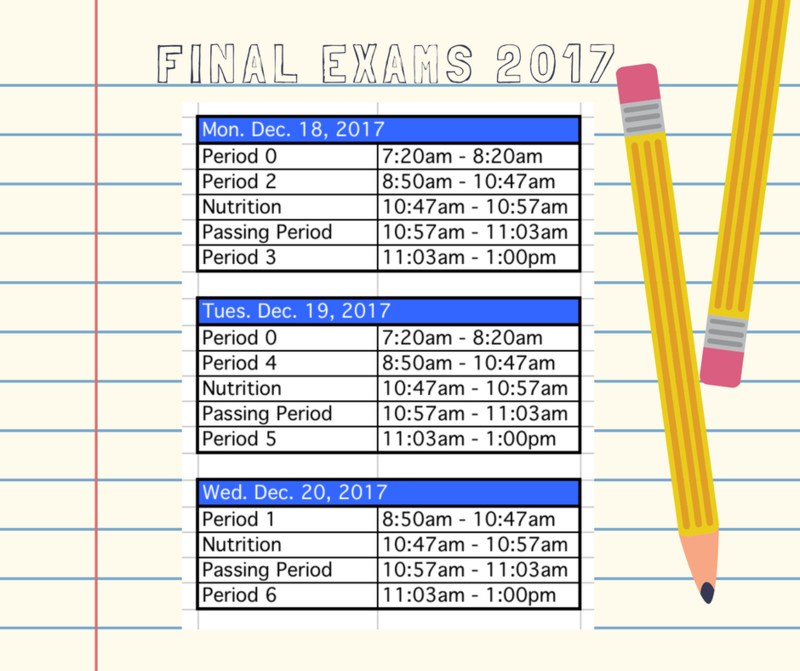 Final Exams Schedule 2017 Featured Photo