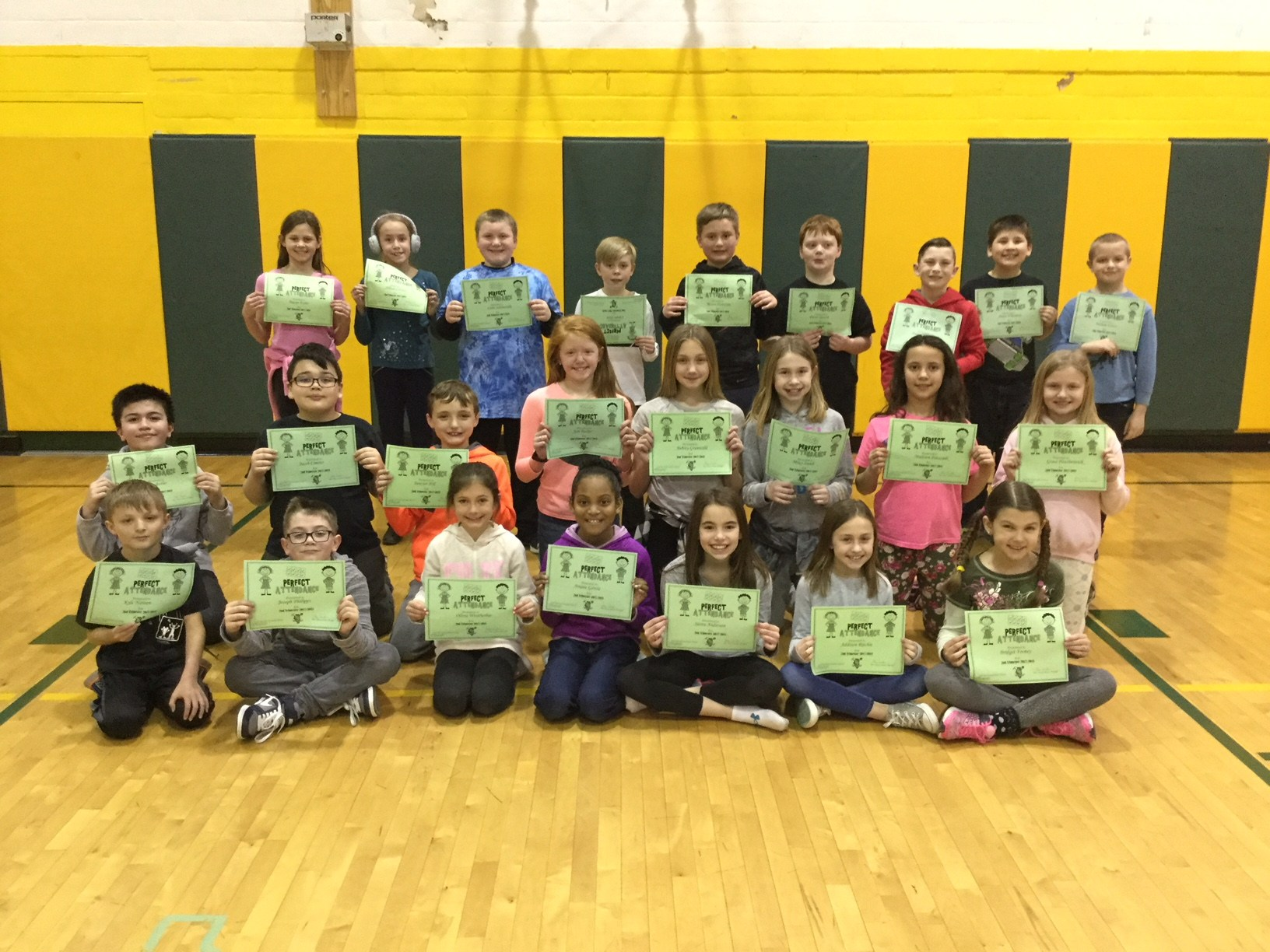 4th grade perfect attendance trimester 2