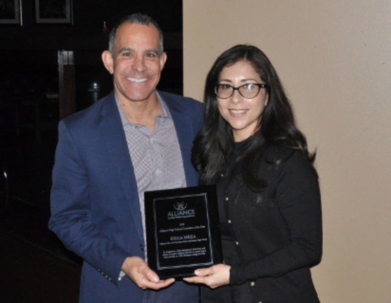 Ms. Meza Awarded Alliance Counselor of the Year Thumbnail Image