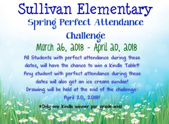 spring attendance challenge
