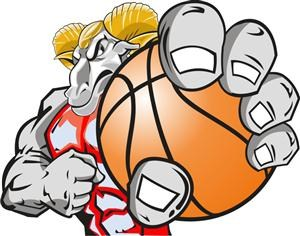Ram with basketball
