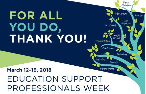 EDUCATIONAL SUPPORT PROFESSIONALS WEEK, MARCH 12-16 Thumbnail Image