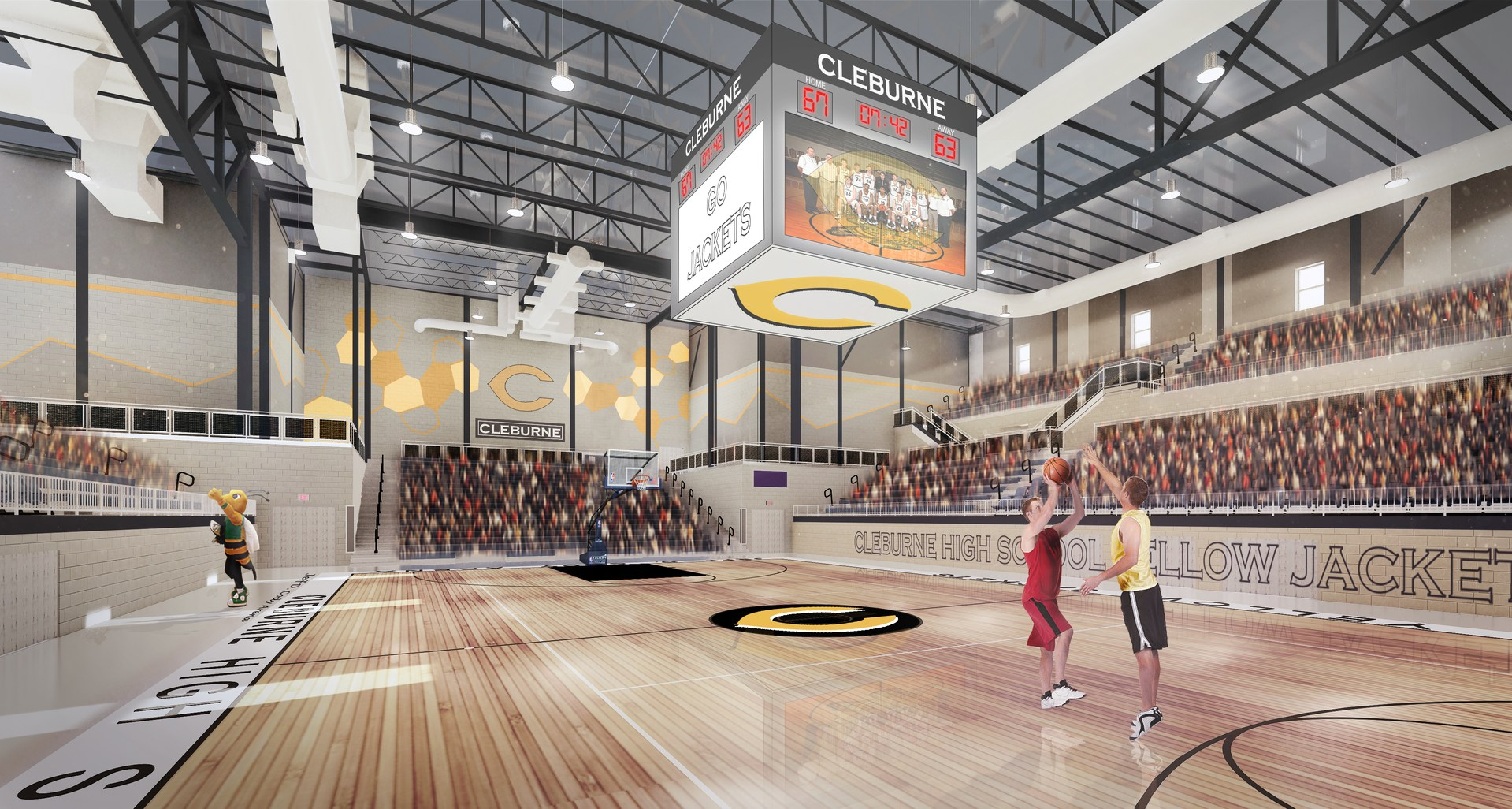 Basketball Court at Cleburne High School