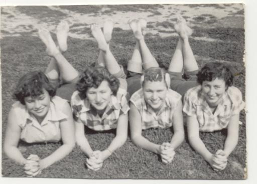 A picture of 4 women from Quinlan in 1950's.
