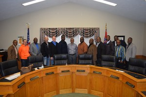 Dr. Ellis meet with local ministers to discuss district vision and mission.