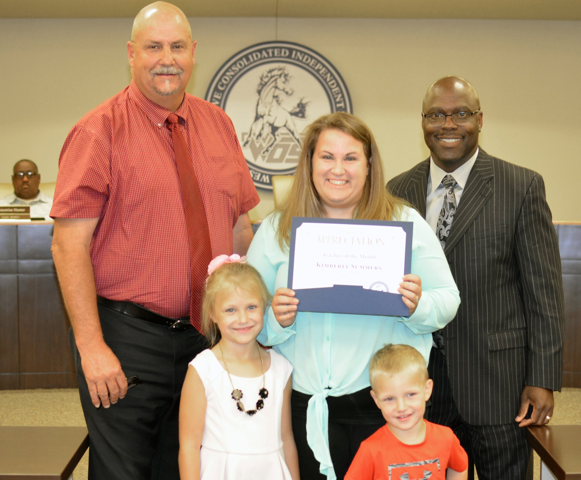 Kimberly Summers is recognized as Teacher of the Month