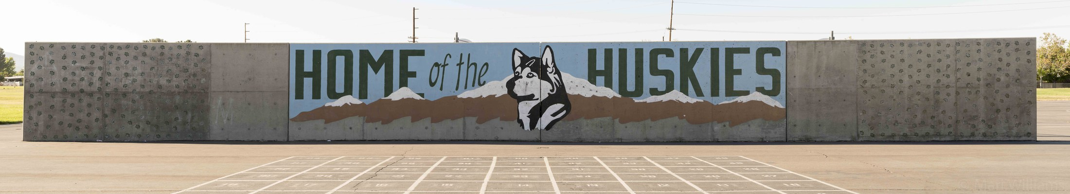 Home of the Huskies Mural