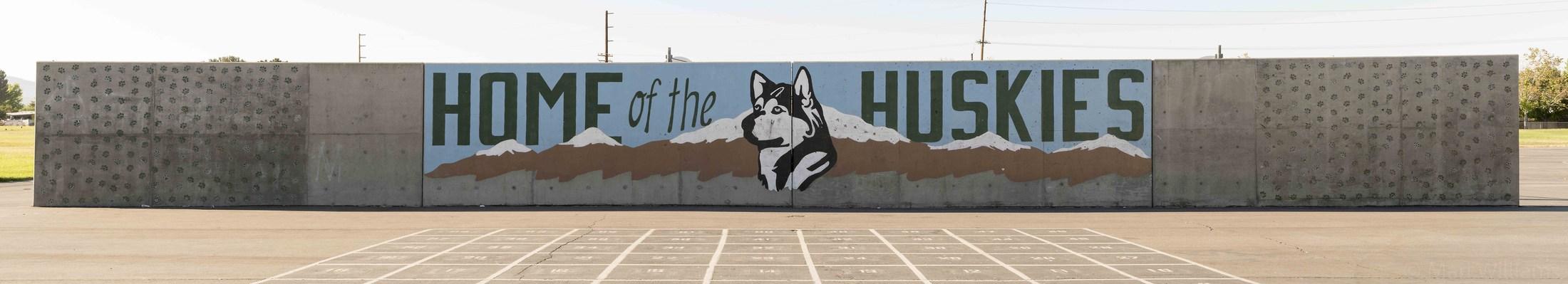 Home of the Huskies Mural