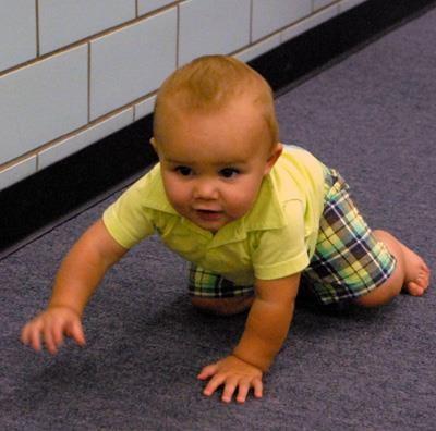 baby at Board meeting
