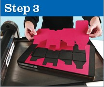 Step 3 on how to use our Jumbo die cutter.