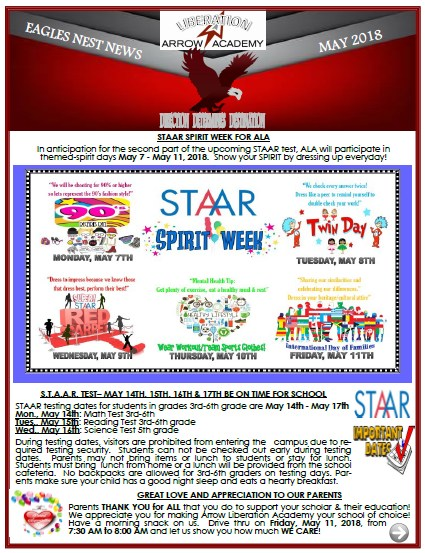 ALA Eagles Nest Newsletter May 2018 Featured Photo