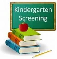 Kindergarten Screening Sign
