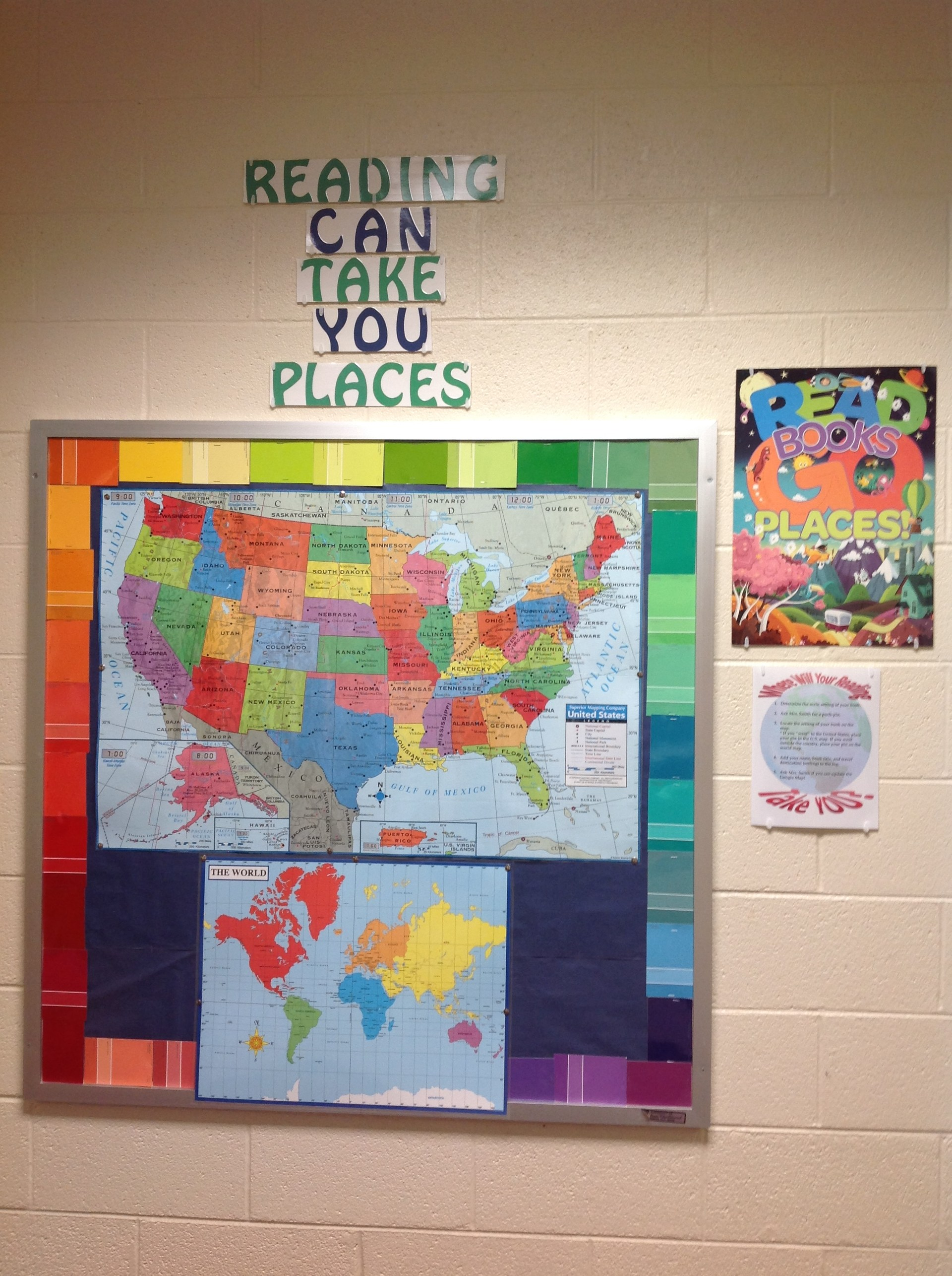 Reading Can Take You Places Bulletin Board