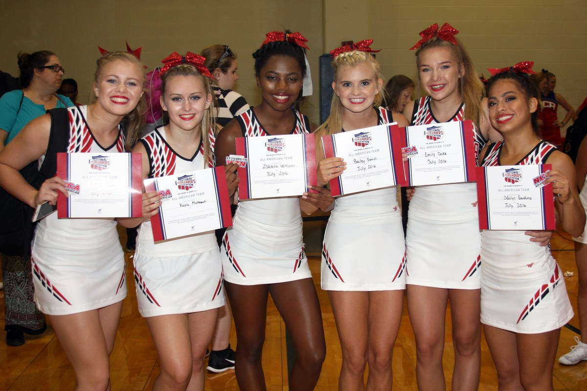 group picture of the victoria west high school cheerleaders