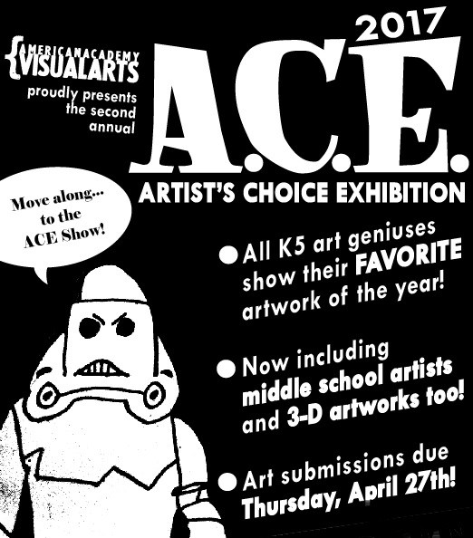 A flier from the 2017 A.C.E., including information about the show -- image intended merely as a reminder about what the yearly A.C.E. show is.