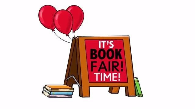 book fair sign with balloons