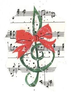 Music staff, Christmas
