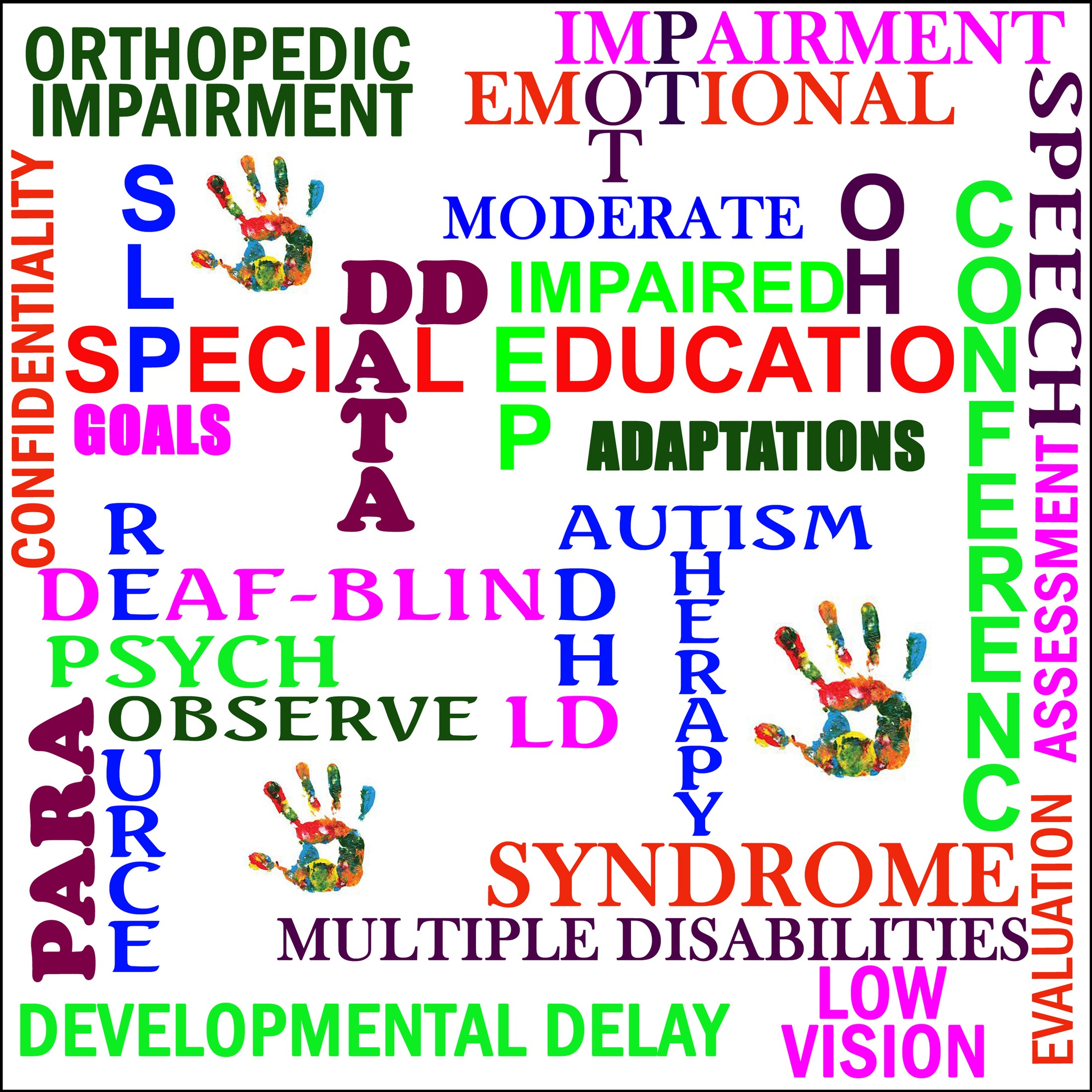 clipar of Special Education words