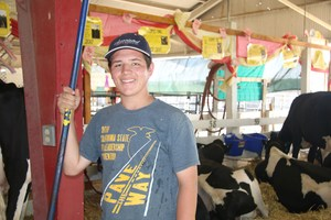 Tyler, with KVHS FFA