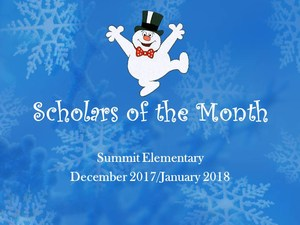 December and January Scholars of the Month