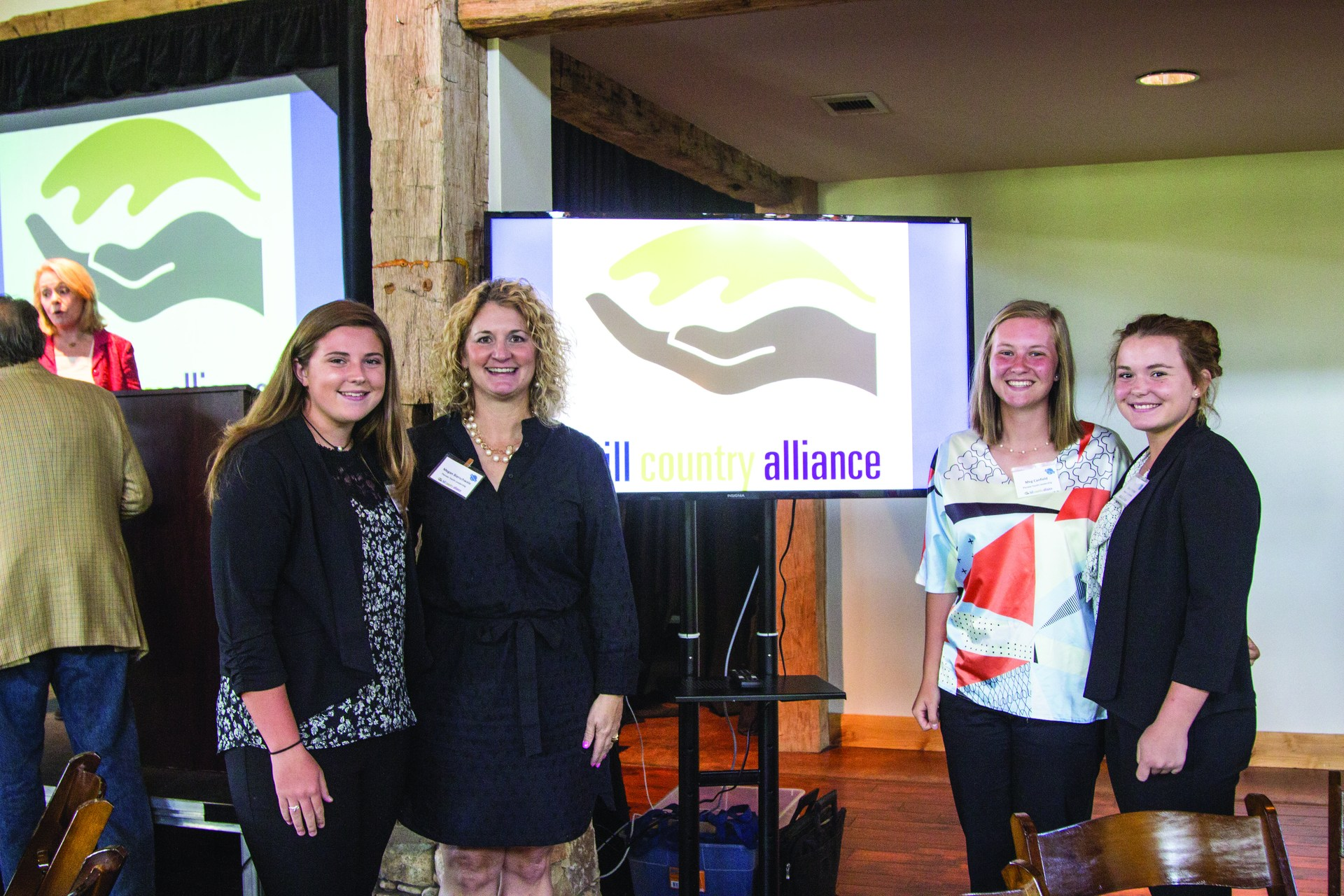 Mrs. Bierschwale, Parker Standard, Megan Canfield and Grace Perlicheck attended the HCA Leadership Summit.